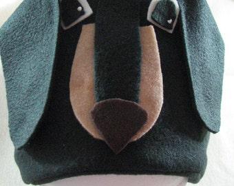 Fleece Sewing Pattern - Dachshund Dog Hat - Dog Sewing Pattern - Animal Hat Pattern - Craft Pattern - Fleece Hat - Digital Download