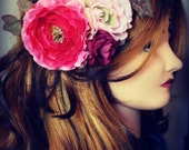 Pinup Hair Flower - Shades of Pink