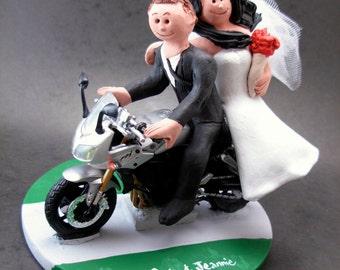 Yamaha Sportbike Motorcycle Wedding Cake Topper Riders