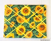 Yellow Sunflowers Memory Board French Memo Board, Organizational Memo Board, Autumn Fall Decor, Christmas Gift, Gift for Her