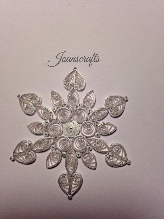 Shimmering Silver Quilled Snowflake Ornament