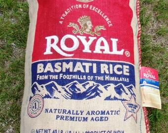 5 ct. Royal Basmati Rice Burlap Sacks- 40 lb. Craft supply