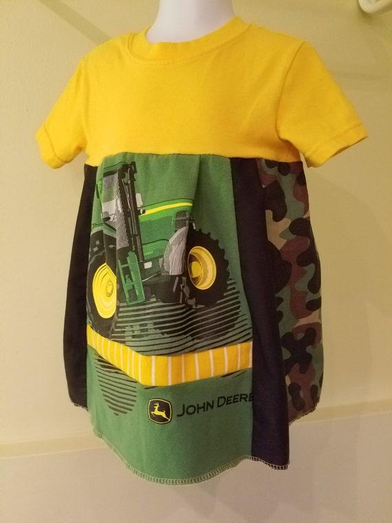 Jd Handmade Creations: Girls John Deere Tractor Camo Handmade Dress By