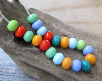 Fiesta Handmade Bright Lampwork Beads SRA