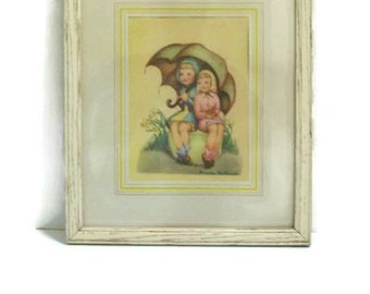 Vintage Art Print of Painting by Phoebe MacDonald