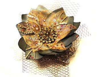 Barock Collection, rhinestone fantasy Bracelet, Golden brown