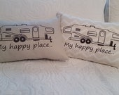 Camper Pillow Cover - My Happy Place
