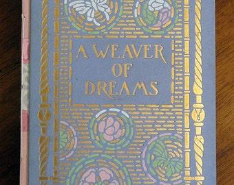 Handbound Concertina Journal or Album From Vintage Book WEAVER OF DREAMS