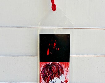 Vampire Art Bookmark, Emo Reader Gifts, Reading, Book Lover, Vampire Print Bookworm Gifts, Gifts For Readers, Gothic Unique Bookmarks, Goth