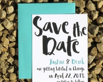 Unique Save the Date Cards - Typography - Save the Date Cards - Custom