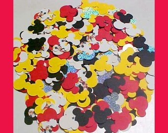 500 Disney Mickey Mouse Confetti Card Stock Punches Cardstock Punch Party Sprinkles