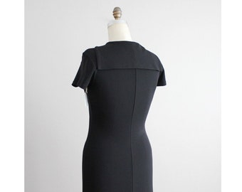 black sailor dress / maxi dress / black floor length dress