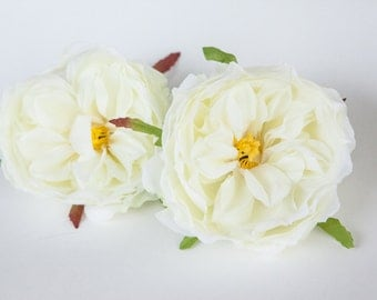 Blooming Peony in Ivory White- 3 inches - Artificial Flower - ITEM 0841