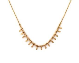 Dainty Gold Elegant Necklace // Minimalist Boho Layering Necklace // Bohemian Summer Layered Charm Necklace // C0701