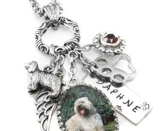 Pet Jewelry, Silver Pet Necklace, Pet Pendant, Customized Pet Necklace with Photo, Cat Necklace, Dog Necklace