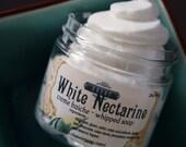 White Nectarine Creme Fraiche Whipped Soap 2 oz