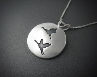Fly Away with Me Sterling Silver Handmade Pendant
