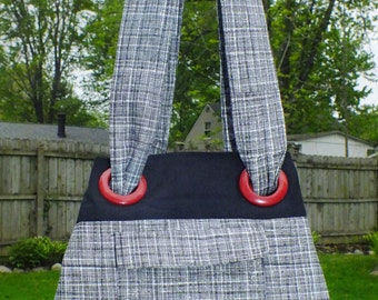 Quilted Bag with Grommets and Matchine Wristlet