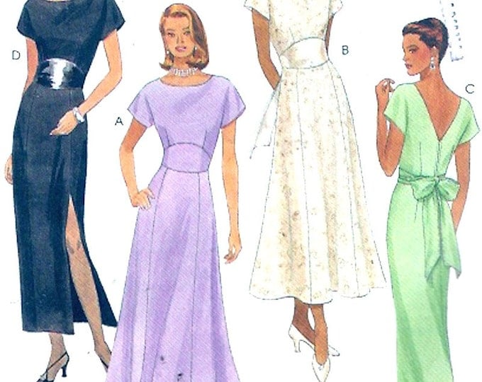 Bridesmaid dress mothers dress evening wear sewing pattern McCalls 8535 Classic UNCUT Size 8 to 12