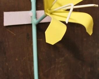 Modern Iron Iris Flower Hook #6