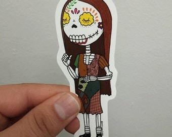 Sally Calavera Die-cut Vinyl Sticker Day of the Dead