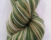 Spanakopita on Alrisha - Hand dyed fingering weight yarn