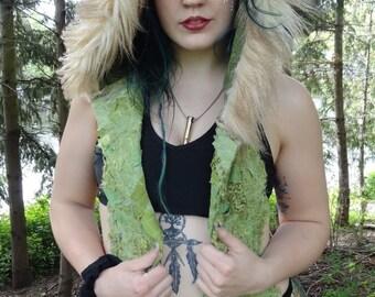 Festival Clothing, Scoodie, Original Intergalactic Apparel Hooded Scarf, Interstellar Weave Hooded Scarf, Eco Gypsy Hood, Pixie Hood