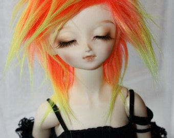 BJD Wig Neon gradient faux fur doll wig SIZE CHOICE