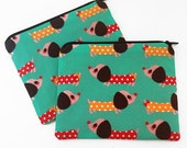 Wiener Dog Dachshund Zipper Pouch - Coin Purse