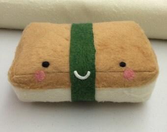 Mr. Tofu Nigiri Sushi - Stuffed Plush Needle Felted Friend