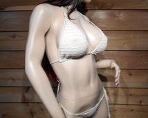 Erotic Crochet Thong Bikini ready to ship