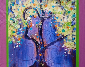 Tree Art Images - Solstice Tree - a Funky Framed Print