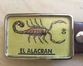Scorpion Belt Buckle.  Belt buckle for women and men.  Bug belt buckle.  Mexican art.