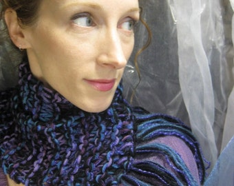 Scarf- Night Sky Mulitistrand Multiclor Loose-Knitted