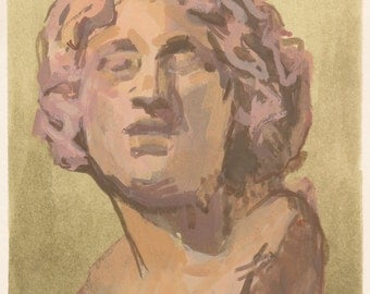classical bust original painting