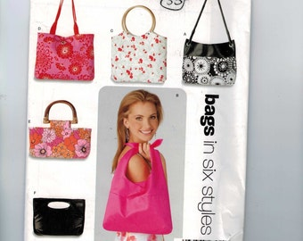 Craft Sewing Pattern New Look 6391 Purse Handbag Bag Wooden Handles UNCUT