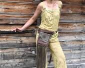 Leather Fringe Belt Bag, Belt Bag, Hip Bag, waist bag, crossbody bag, cross body bag