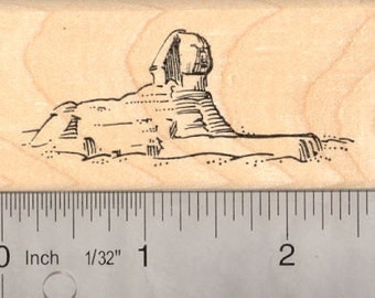 Great Sphinx of Egypt Rubber Stamp H13713 Wood Mounted