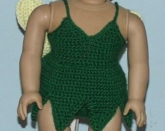 18 inch American Girl Crochet Pattern - Tinkerbelle Fairy