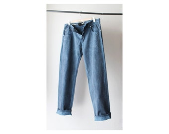 Moschino Dyed Distressed Cotton Pants