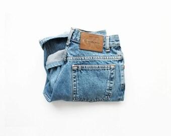 1990's CK Jeans Stonewash High Waist Skinny Jeans USA