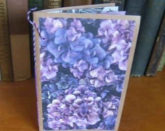 Decorated Pages Daybook Mini Junk Journal in Purple Hydrangea Theme