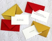 Holiday Emoticards - A little message for when you need it. Set of 15 different messages. Letterpress
