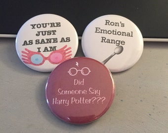 Harry Potter Inspired - Button or Magnet