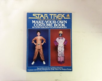 vintage 1979 Star Trek Make Your Own Costume Book- Perfect for Halloween