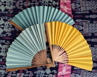 Vintage 1960s70s Large Paper Fan Decorations | Chinoise Asian Found Art Party Shabby Chic Decor Altered Art | VTG Ephemera | FOUND by LB