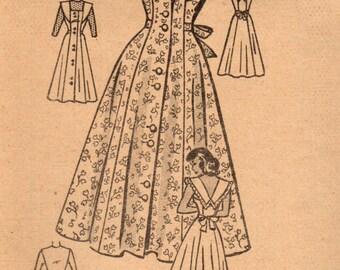 1940s Anne Adams 4515 FF Vintage Sewing Pattern Junior Miss Sundress, Jumper, Blouse Size 11 Bust 29