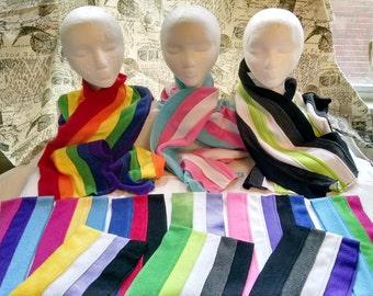LGBTQIA+ Pride Scarves - 12 Styles!