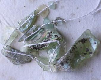 sale .. ANCIENT ROMAN GLASS No. 145 .. Genuine Antique Roman Glass Fragment Beads (rg-145)