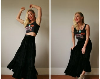 1980s Witchy Maxi Skirt~Size Extra small to Small